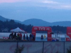 the swim start
